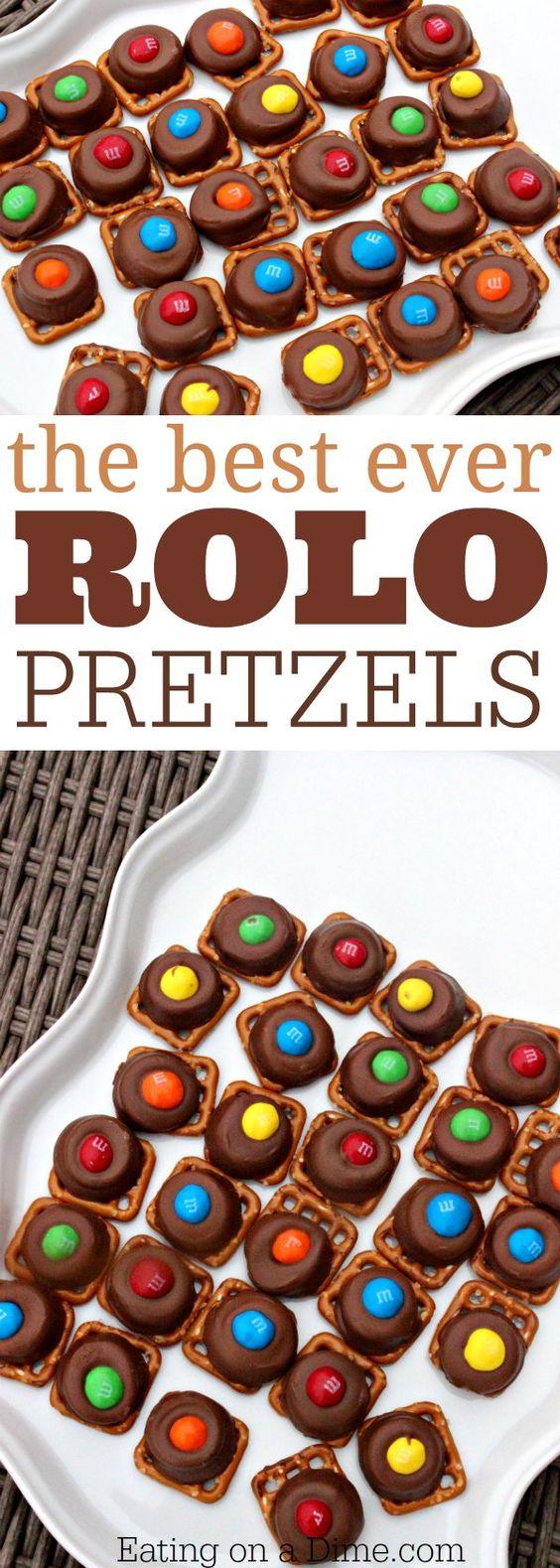 Rolo Pretzels  Quick and Easy Rolo Pretzel Bites recipe