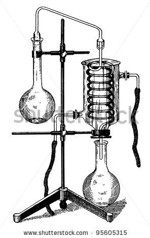 stock photo : Old Chemical Laboratory Equipment