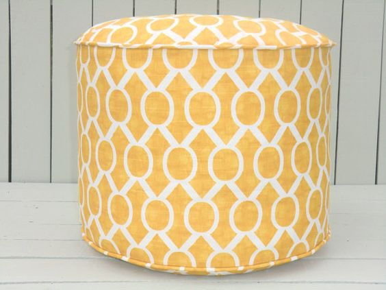 Round ottoman Floor cushions and Pouf chair on Pinterest