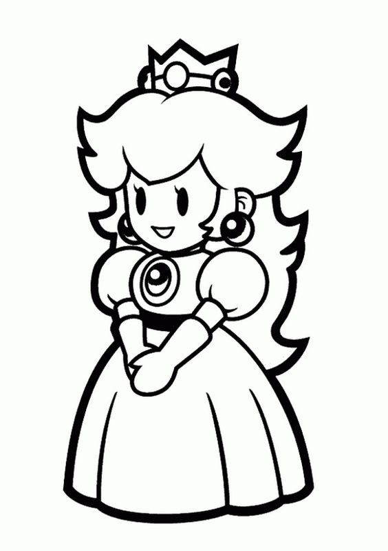 Coloring pages to print, Princess peach and Princess