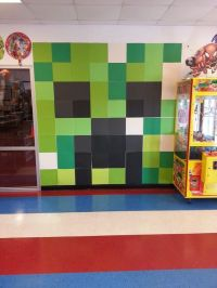 MINECRAFT WALL ART MADE OUT OF 12X12 SCRAPBOOK PAPER ...