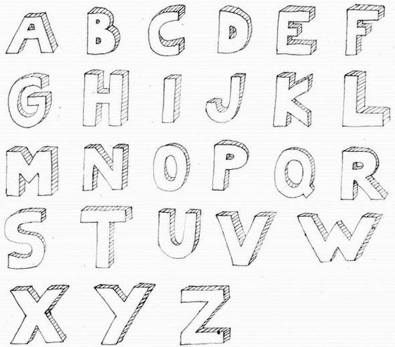 Drawing 3d Block Letters 3d bubble letter alphabet for