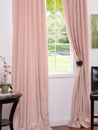 Pale Pink Faux Silk Drapes Curtains Blinds Pinterest Blush Vintage And Pale Pink