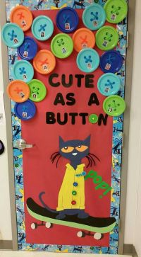 Pete the Cat door decor! Love this for Back to School ...