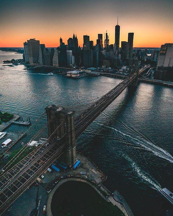 "newyorkcityfeelings: ""New York's Sunset by @mslovejoy "":"