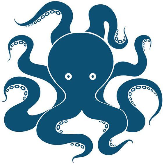 Octopus art, octopus decal, octopus wall decal, octopus