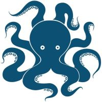 Octopus art, octopus decal, octopus wall decal, octopus