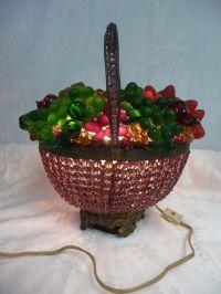 Beautiful Antique 1930's Czech Glass Fruit on Amethyst ...