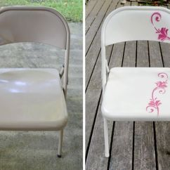 Folding Chair Upcycle Small Bedroom Tub Upcycling: Metal Makeover | D I Y Pinterest Sprays, Metals And ...