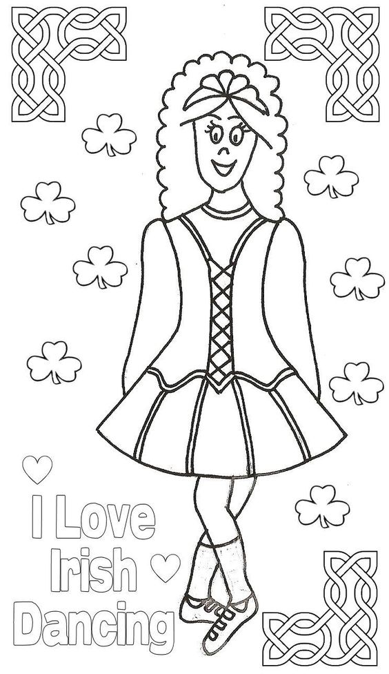 Irish Dance Coloring Page