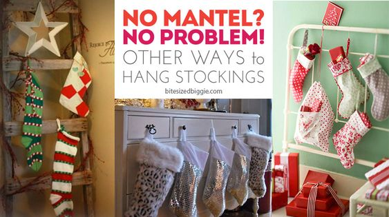 Remodelaholic How To Hang Stockings Without A Mantel To Be, Traditional And Stockings On Pinterest