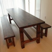 Narrow dining tables, Dining table with bench and Foot ...