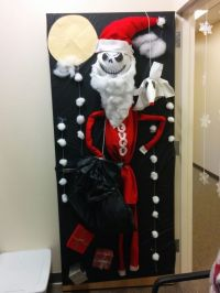 Nightmare before Christmas door decorating competition