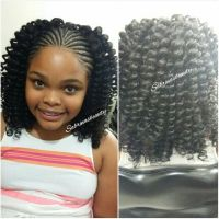 Cornrows, The front and Curls on Pinterest