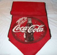 """Vintage Coca-Cola Red Tapestry Table Runner 67""""   COCA ..."""