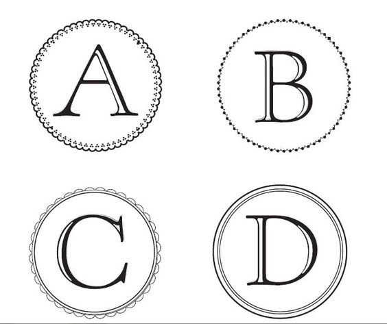 Free Monogram Letters you can download and use to make