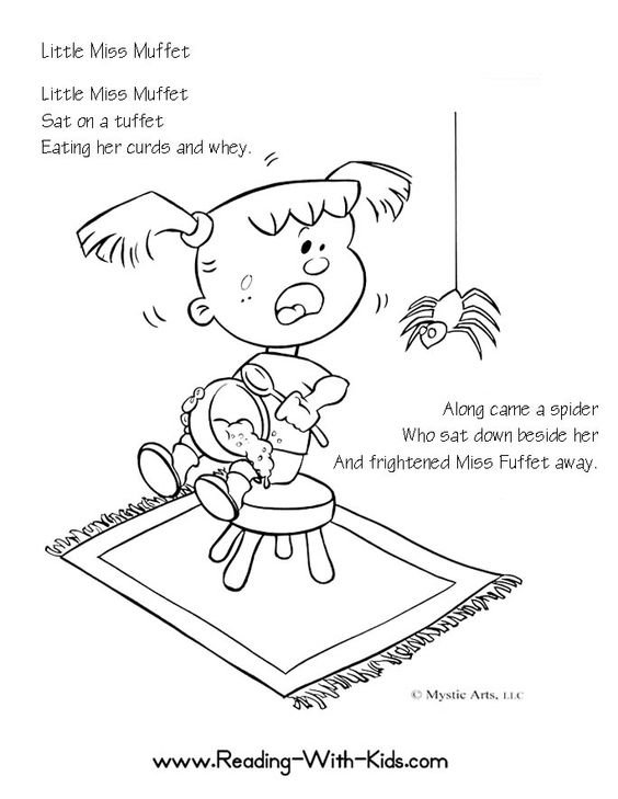 Free Nursery Rhymes coloring pages. Might make cute baby