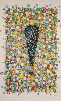 Modern wall art, Circular wall art, Rolled paper art ...