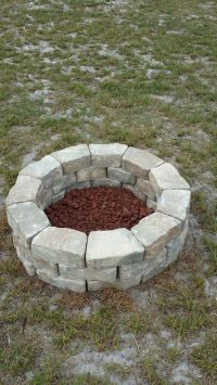 Do it yourself fire pit. Easy & Cheap. | Fire Pit ...