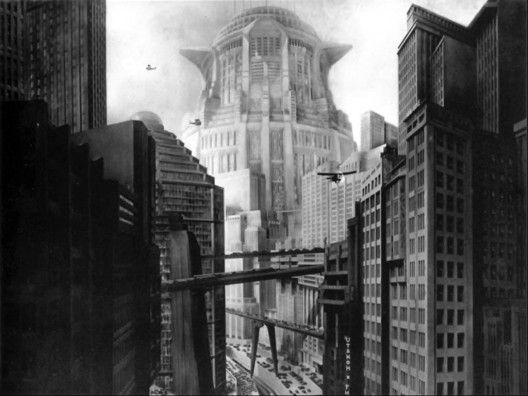 Skyscrapers and skybridges in the film Metropolis