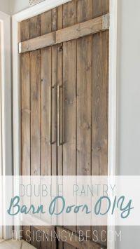 DOUBLE PANTRY BARN DOOR DIY - UNDER $90   Pocket doors ...