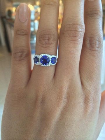 Halo My Birthstone And Engagement Rings On Pinterest