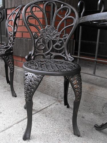 Wrought Iron Finishing  Iron patio furniture The ojays