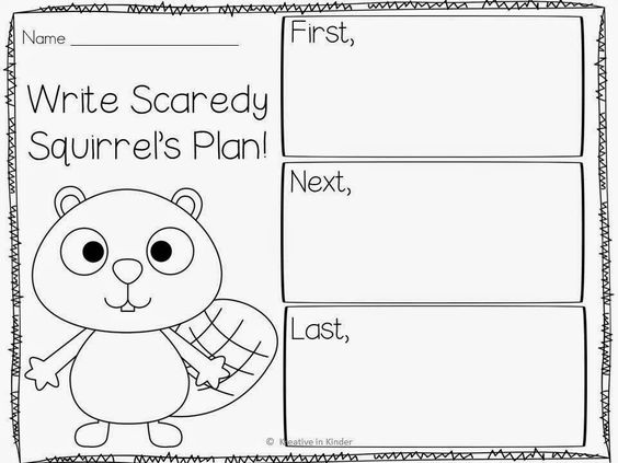 Kindergarten Social Studies: Scaredy Squirrel Unit