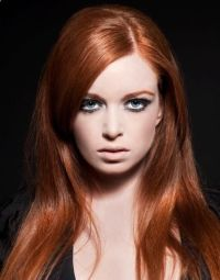 can cool skin tones wear copper red hair | coppery red red ...