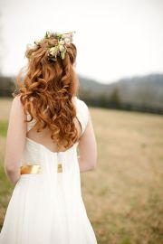 country chic hair and wedding