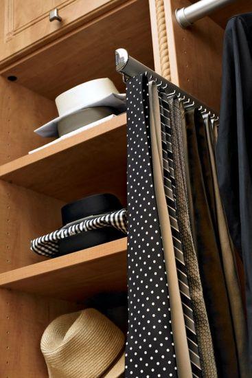 Brushed Chrome Tie Rack  Inspiration California Closets
