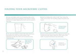 Top Tip: Every microfiber has 8 cleaning sides when