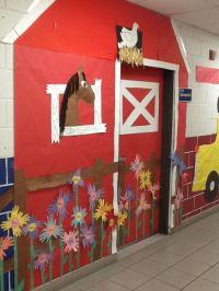 barn bulletin board ideas | Classroom door decor | western ...