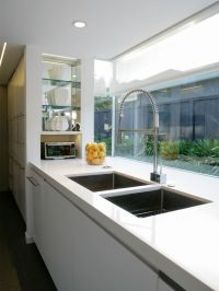 Large double sink and window splashback | House ideas ...