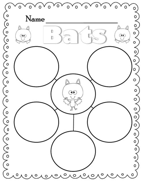 Freebie Bat Bubble Map Flying into First Grade