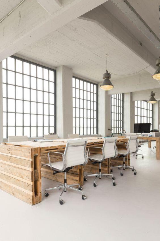 Werkplek inspiratie   Industriële creatieve en lichte werkplek