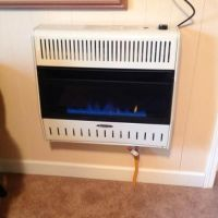 30,000 BTU Blue Flame Dual-Fuel Wall Heater with Blower ...