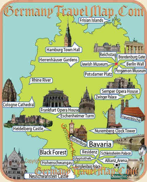 cool Germany Map Tourist Attractions Travelquaz