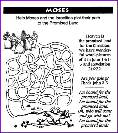 Maze, Moses and Promised Land – Kids Korner
