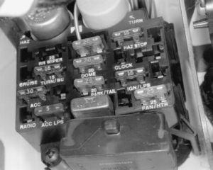 under dash fuses 1993 jeep | Fig Fig 1: Underdash fuse