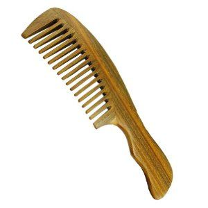 wide tooth sandalwood b for detangling hair with aromatic smell 7 8 x2 by oriental horn b