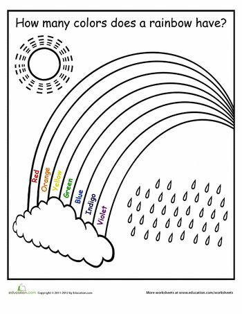 Rainbows, A rainbow and Worksheets on Pinterest