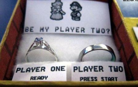 demandes en mariage geek:
