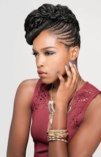Pics For > African Hair Braiding Styles Updos 2014