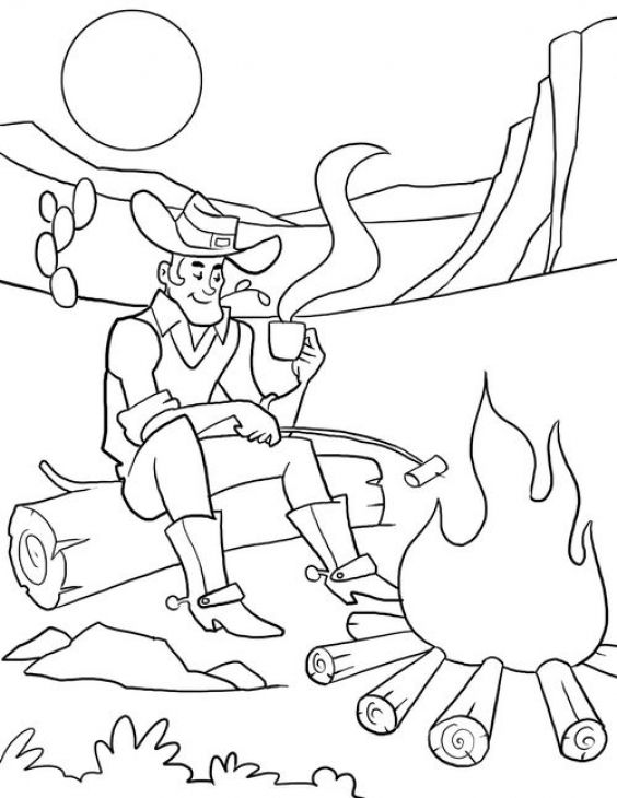 Coloring pages for kids, Campfires and Coloring pages on