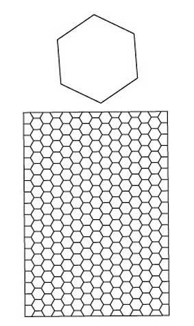 Hexagon coloring page to try out new designs. (Can also