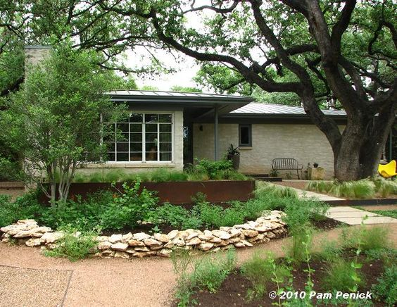austin texas home rusty architectural