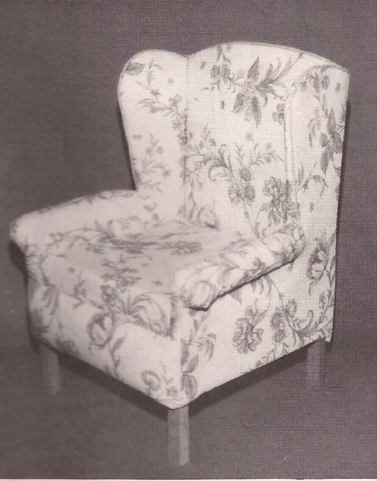 Make Your Own Dollsize Wing Chair  Pattern and