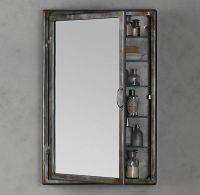 RH inset Pharmacy Wall Mount Medicine Cabinet in brushed ...