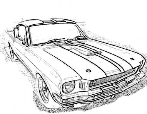 Mustangs, Racing and Coloring pages on Pinterest